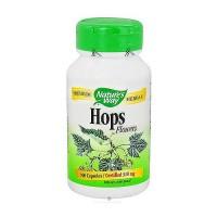 Natures Way Hops Flowers Capsules, Premium Herbal - 100 ea