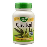 Natures Way Olive Leaf 500 mg Vegetarian Capsules - 100 Ea