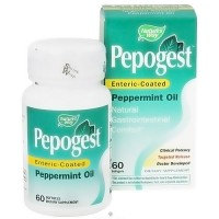 Natures Way Pepogest Entric coated Peppermint Oil Softgels - 60 ea