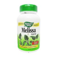 Natures Way Premium Herbal Melissa Leaves 500 mg Capsules, Lemon Balm - 100 ea