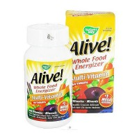 Natures Way Alive Whole Food Energizer MultiVitamin Tablets With Iron - 60 Ea