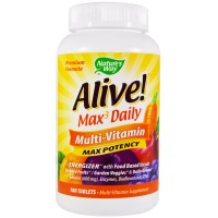 Natures Way Alive Whole Food Energize Multivitamin Tablets - 180 ea