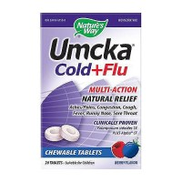 Natures Way Umcka Cold Plus Flu Chewable Tablets, Berry Flavor - 20 ea