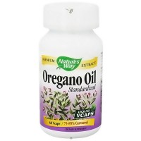Natures Way Oregano Oil Standardized Liquid Vegetarian Capsules, 60 ea