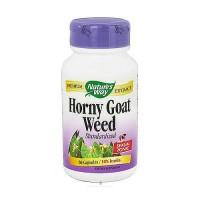 Natures Way Horny Goat Weed Standardized Capsules, 10% Icariin - 60 ea