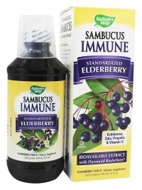 Natures Way Sambucus Immune System Lozenges, Elderberry - 30 ea