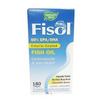 Natures Way Fisol Fish Oil 500 mg Softgels - 180 ea