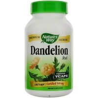 Natures Way Dandelion Root 540 mg Vegetarian Capsules - 180 Ea