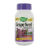 Natures Way Grape Seed Standardized Extract Antioxidant Capsules - 60 ea
