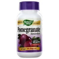 Natures Way Standardized Pomegranate Premium Extract Vegetarian Capsules - 60 ea