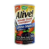 Natures way Alive whole food energizer soy protein ultra-shake drink, vanilla - 1.3 lbs