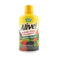 Natures way alive whole food energizer liquid multi vitamins and minerals, citrus flavor - 30 oz