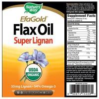Natures way organic liquid flax oil - 16 oz
