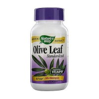 Natures Way Olive Leaf Standardized Vegetarian Capsules - 60 ea