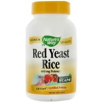Natures Way Red Yeast Rice 600 mg Vegetarian Capsules - 120 ea