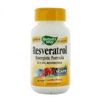 Natures way resveratrol synergistic formula dietary supplement capsules - 60 ea