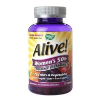 Natures way alive womens 50 plus gummy multivitamin  -  75 ea