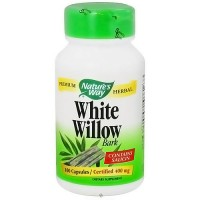 Natures Way White Willow Bark 400 mg Capsules Contains Salicin, 100 ea