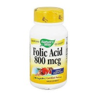Natures Way Folic Acid 800 mcg Capsules - 100 ea