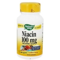Natures Way Niacin Nicotinic Acid 100 mg - 100 Capsules