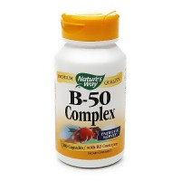 Natures way vitamin B-50 complex capsules for energy and nerves - 100 ea
