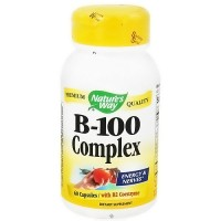 Vitamin B-100 Complex Capsules For Energy And Nerves By Natures Way - 60 Ea
