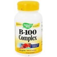 Natures Way Vitamin B-100 Complex Capsules, Energy And Nerves - 100 Ea