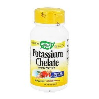 Natures way potassium chelate 99 mg potency capsules for muscle function - 100 ea