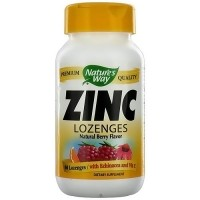 Natures Way Zinc with Echinacea and Vitamin C Lozenges, Natural Berry - 60 ea