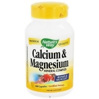 Natures Way Calcium And Magnesium Mineral Complex Capsules - 100 ea