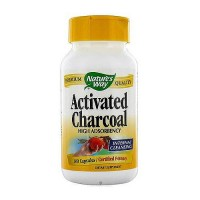 Natures way activated charcoal high adsorbency capsules for internal cleansing - 100 ea