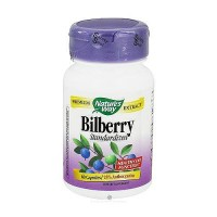 Natures way bilberry standardized extract capsules, healthy eye funtion - 60 ea
