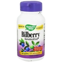 Natures Way Bilberry Standardized Premium Extract Capsules - 90 ea