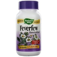 Natures Way Feverfew Standardized Extract 80 mg Capsules - 60 ea