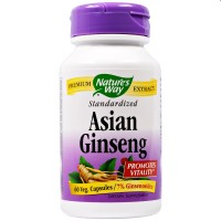 Natures Way Asian Ginseng Veg Capsules - 60 ea
