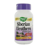 Natures way siberian eleuthero standardized extract capsules, improves vitality - 60 ea