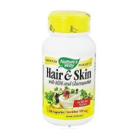 Natures Way Hair and Skin with MSM and Glucosamine Capsules - 100 ea