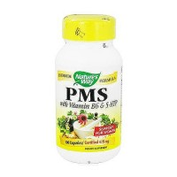 Natures Way PMS with Vitamin B6 and 5-HTP Capsules For Women Support - 100 ea