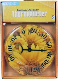 Headwind Consumer dial thermometer sunflowers - 8 inch, 5 ea