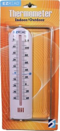 Headwind Consumer indoor outdoor thermometer with bracket - 9 inch, 10 ea