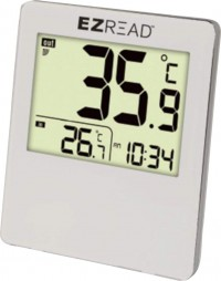 Headwind Consumer digital thermometer with clock - large, 6 ea