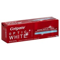 Colgate optic white luminous mint toothpaste enamel white - 3.5 oz