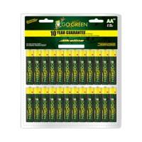 Gogreen Power, Inc. alkaline battery clamshell - aa/48 pack, 12 ea