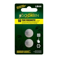 Gogreen Power, Inc. button battery for electronics and watches - lr44/2 pack, 200 ea