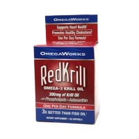 Omega works redkrill omega-3 krill oil 300 mg softgels - 60 ea