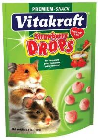 Vitakraft Pet Prod Co Inc drops with strawberry - hamster - 5.3 oz, 48 ea
