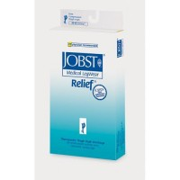 Jobst relief closed toe stockings thigh high 20-30 mmhg beige xl garter style - 1 ea