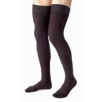 Jobst thigh mens ribbed, 15-20mm black, large - 1 ea