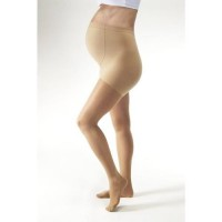 Jobst women's ultrasheer 8-15 mmhg closed toe waist support stocking, silky beige, small - 1 ea
