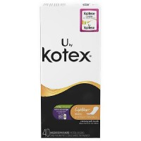 Kotex Lightdays Unscented Pantiliners, Extra Coverage - 40 ea